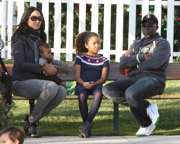 Kimora Lee Simmons and Djimon Hounsou with son Kenzo