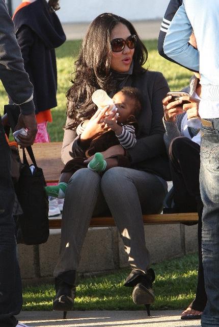 Kimora Simmons with son Kenzo