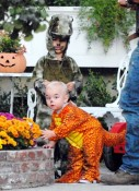Kingston and Zuma Rossdale out for Halloween