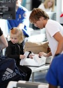 Larry Birkhead & daughter  Dannielynn go through security at LAX