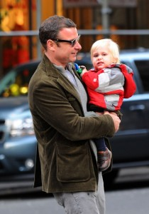 Liev Schreiber strolls with his son Sammy