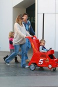 Mark & Rhea Wahlberg shop with Ella, Michael and Brendon