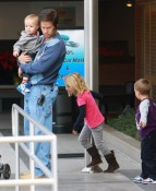 Mark  Wahlberg out with Ella, Michael and Brendon