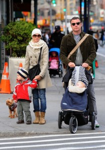 Naomi Watts and Liev Schreiber out with their boys Sammy & Sasha