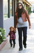 Pregnant Camila Alves arrives at the park with son Levi