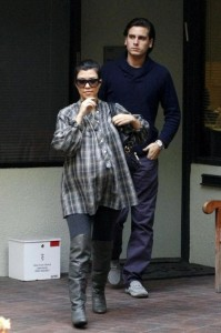 Pregnant Kourtney Kardashian and Scott Disick visit the doctors