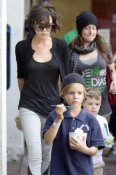 Victoria Beckham out with sons Cruz and Romeo for Frozen Yoghurt in LA