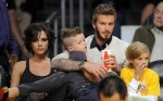 The Beckhams Cheer On The Lakers