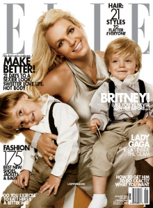 Britney And Her Boys Cover Elle Magazine