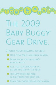 """Baby Buggy Launches Their """"Love, Recycled"""" Critical Gear Drive"""
