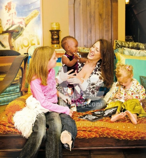 Joely Fisher and Her Girls Cover Baby Couture