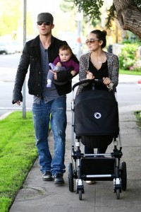 Cam Gigandet & Dominique Geisendorff  with daughter Everleigh in LA
