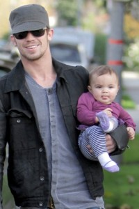 Cam Gigandet   with daughter Everleigh in LA