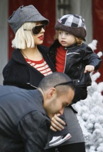 Christina Aguilera and son Max Bratman prep for the holidays