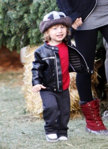Christina Aguilera's son Max Bratman prep for the holidays