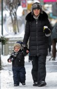 Julianna Margulies and son Kieran bundle up in NYC