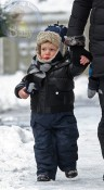 Julianna Margulies' son Kieran bundles up in NYC