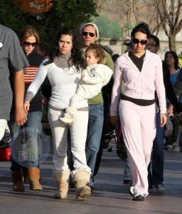 Marc Anthony & Jennifer Lopez spend Christmas Eve at Disneyland with their twins