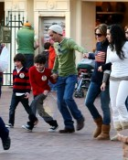 Mark Anthony and Jennifer Lopez at Disneyland with Marc's boys Christian and Ryan