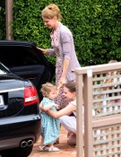 Nicole Kidman & Sunday Rose Visit Family in Australia