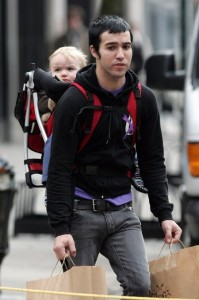 Pete Wentz backpacks son Bronx in NYC