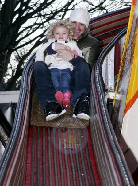 Peter Andre and daughter Princess Tiaamii at Winter Wonderland in London