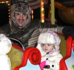 Peter Andre with daughter Princess Tiaamii at Winter Wonderland in London