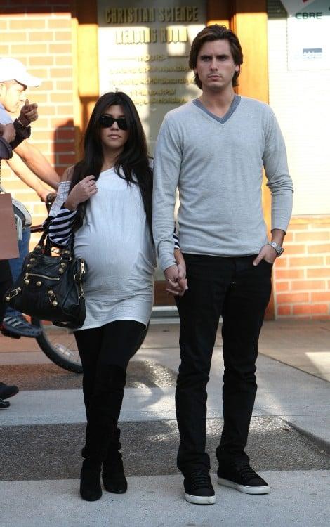 Pregnant Kourtney Kardashian and Scott Disick