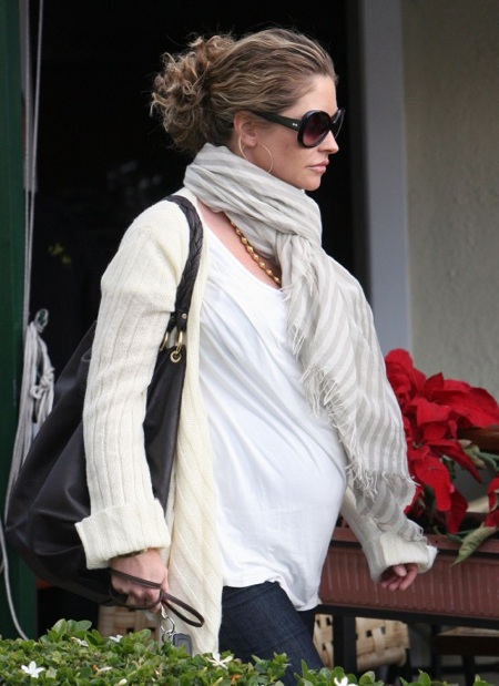 Pregnant Rebecca Gayheart out in LA