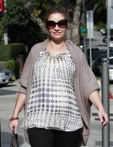 Pregnant Rebecca Gayheart out in LA