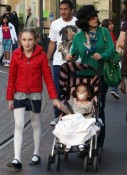 Salma Hayek and Valentina Pinault out shopping with Mathilde Pinault