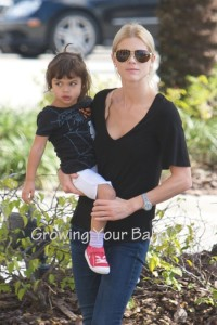 Tiger Woods' wife Elin Nordegren out for lunch with her children, Florida.