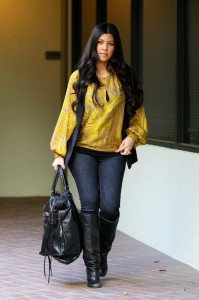 Kourtney Kardashian Not Happy OK! Magazine Photoshopped Post-Pregnancy Photos