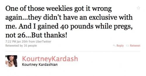 Kourtney Kardashian Not Happy OK! Magazine Photoshopped Post-Pregnancy Photos