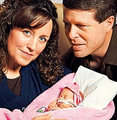 Jim and Michelle Duggar Show Off Baby Josie!
