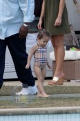 Max and Emme Chill Poolside in Miami