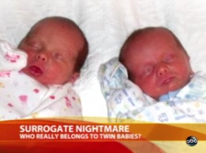 Surrogate Mother Takes Back Babies