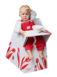 Eco Fabulous: Belkiz Cardboard Highchair!