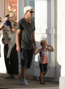 Gavin and Kingston Rossdale in St.Barts
