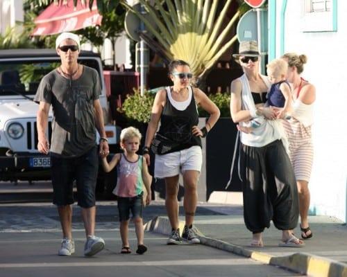 Gwen Stefani and Gavin Rossdale in St. Barts