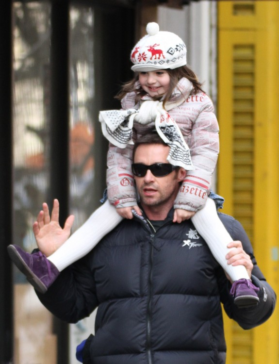 A Giggly Ava Jackman Gets A Piggyback Home From School