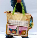 Eco Fabulous: Breage Recycled Fabric Diaper Bag