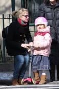 Michelle Williams Piggy Backs Matilda Through Brooklyn