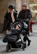 Naomi And Her Boys Bundle Up in NYC