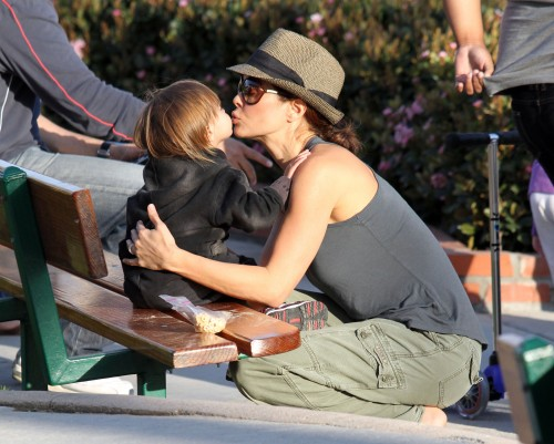 Brooke Burke Enjoys A Park Play Day!