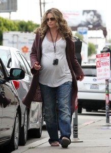 An Expectant Rebecca Gayheart Pampers Her Pooches