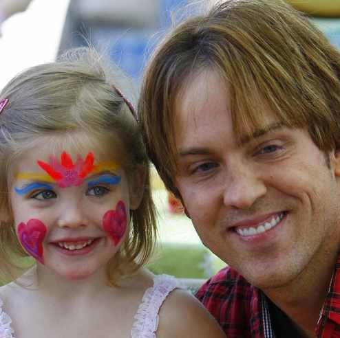 Hearts and Kisses!  Larry Birkhead and Dannielynn Celebrate Valentine's in LA