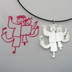 Wear Your Child's Artwork As Unique Jewelry