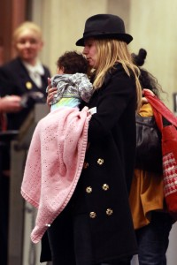 Heidi Klum Bundles Lou at LAX