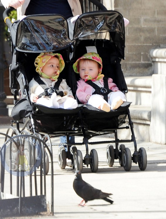 SJP's Twins Marion and Tabitha Enjoy A Sunny Stroll